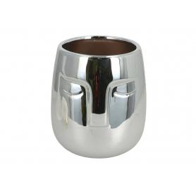 Ceramiczna doniczka Twarz srebrna 07956