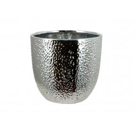 Ceramiczna doniczka srebrna 005048