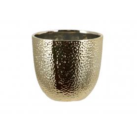 Ceramiczna doniczka złota 005032