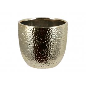 Ceramiczna doniczka złota mała 005007