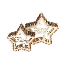 Drewniana dekoracja Gwiazda 18137