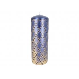 Świeca DIAMENT Classic słupek 70/200 07775 kobalt
