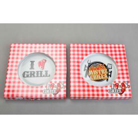 Керамическая тарелка 24см и LOVE GRILL