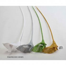 Искусственные цветы калла блёстки микс