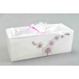 Świeca Orchid lampion prostokąt 11x26x10