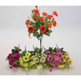 Kwiaty sztuczne bukiet margarytek