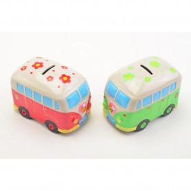 Ceramiczna skarbnka autobus