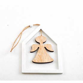 Деревянная декорация : Ангелок 12x9x0,5см