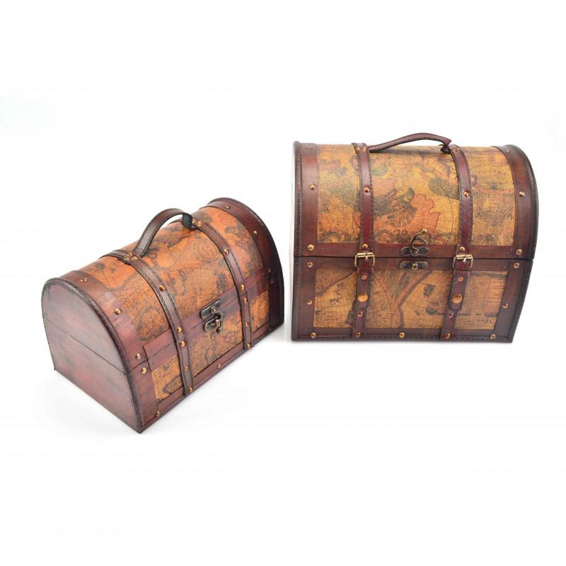 Drewnian kufer: zestaw 2 szt.