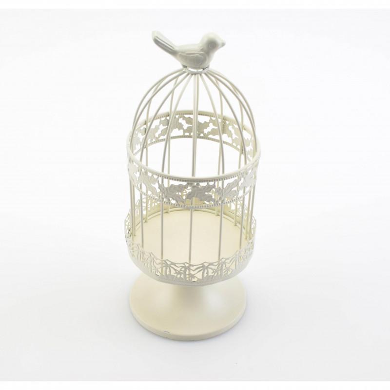 Metal świecznik: klatka 29x12,5