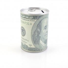 SKARBONKA USD/EUR (otwierana-metalowa)