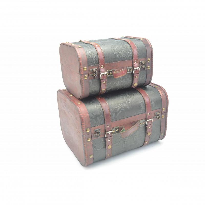 Drewniany kufer: zestaw 2 szt.