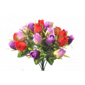 Bukiet róż z kwiatów sztucznych