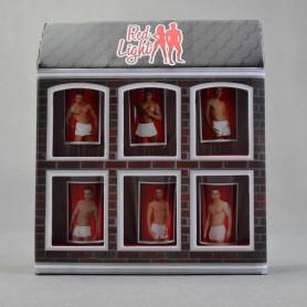Стеклянный комплект 6 рюмок RED LIGHT