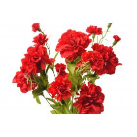 Kwiaty sztuczne bukiet goździk 52cm
