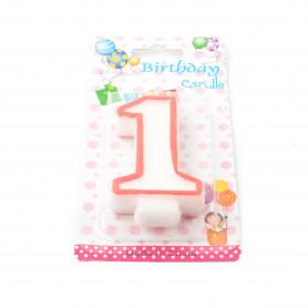 Свечка на День Рождения цифра