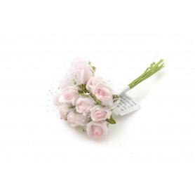 Kwiaty sztuczne pik róża pianka koronka