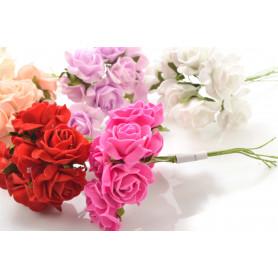 Kwiaty sztuczne róża pianka wiązka