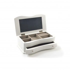 Drewniana szkatułka na biżuterię