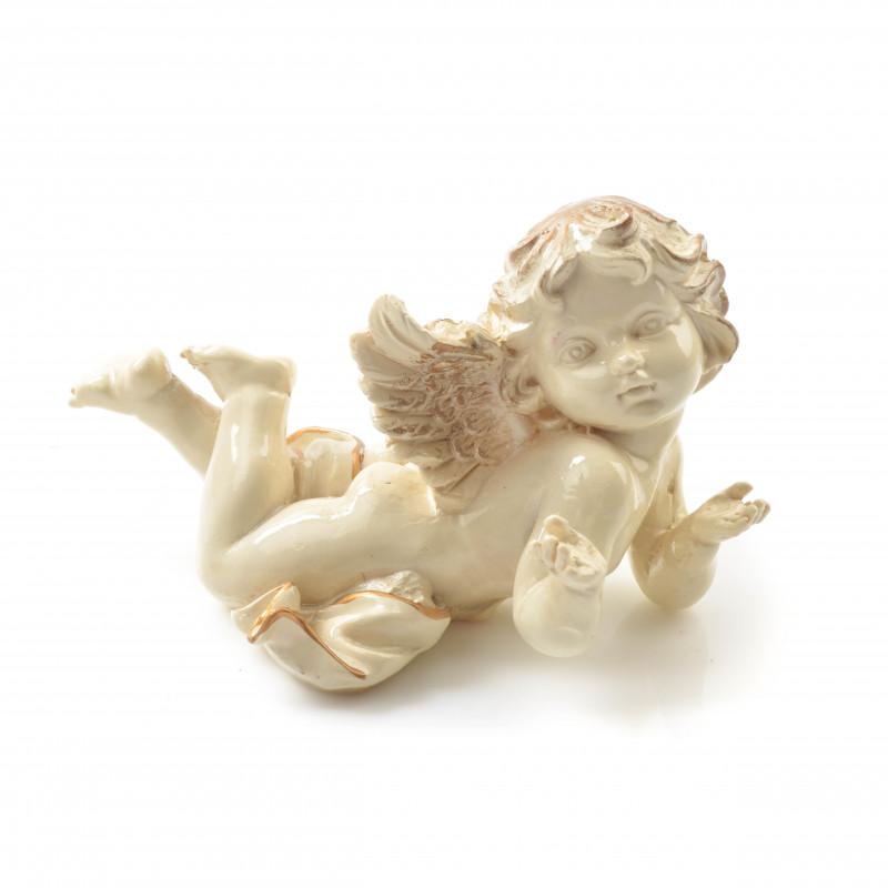 Tw.sztuczne anioł złocony leżący