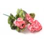 Kwiaty sztuczne bukiet pelargonii