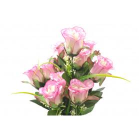 Kwiaty sztuczne bukiet róż satyna