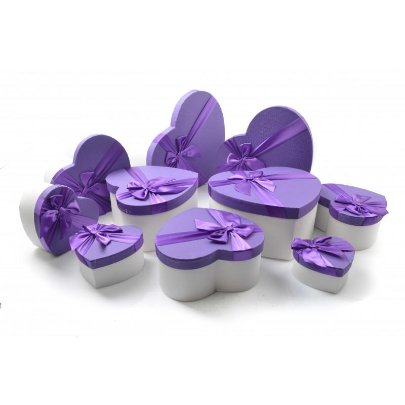 Papier pudełka serca set FLOWER BOX ZESTAW 10 SZT.kolor