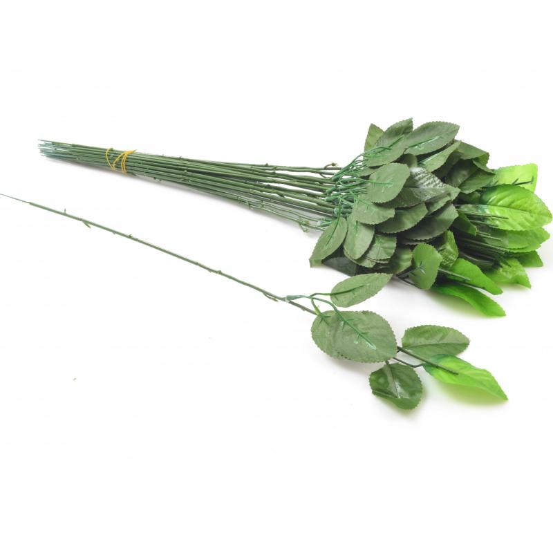 Kwiaty sztuczne łodyga róży 49cm 24 szt.