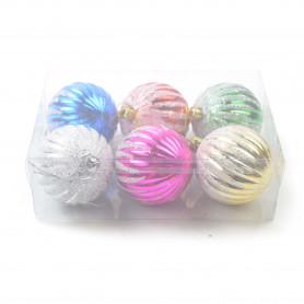 Bożonarodzeniowe bomki plastik szron