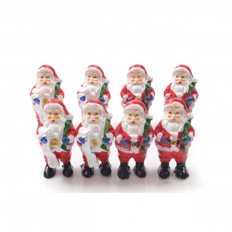 Bożonarodzeniowa figurka mikołaja 6cm mix wzorów