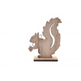 Bożonarodzeniowa drewniana wiewiórka