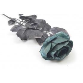 Kwiaty sztuczne gałązka róży na czarnej łodydze