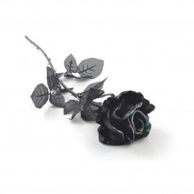 Kwiaty sztuczne róża pojedyncza black