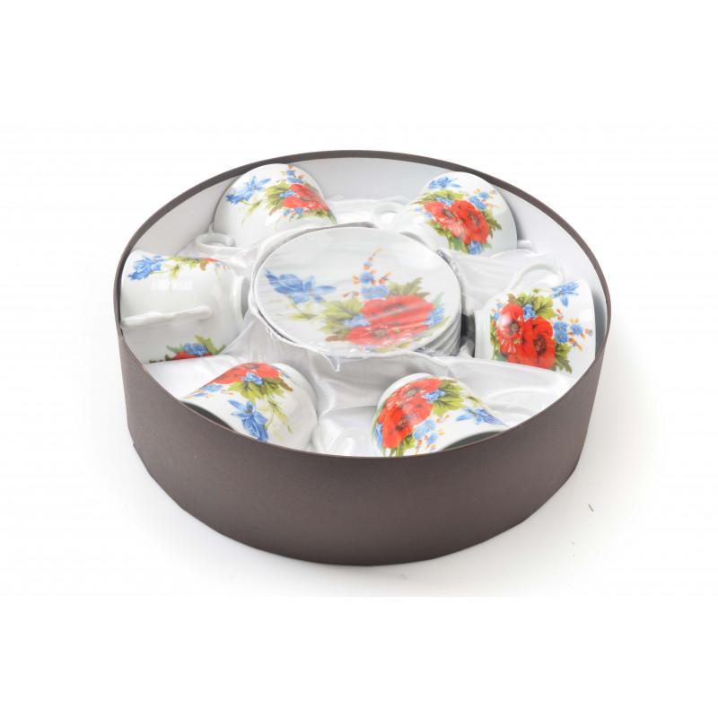 Ceramiczny kpl.filiżanek 6+6