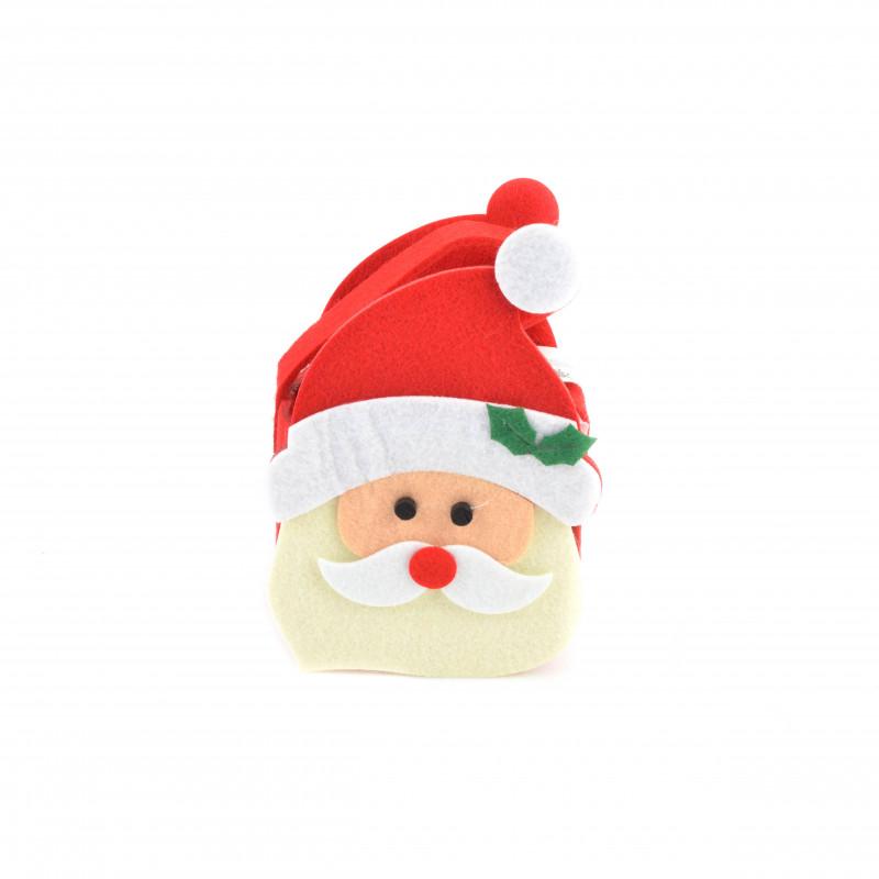 Bożonarodzeniowa torebka filcowa MIKOŁAJ