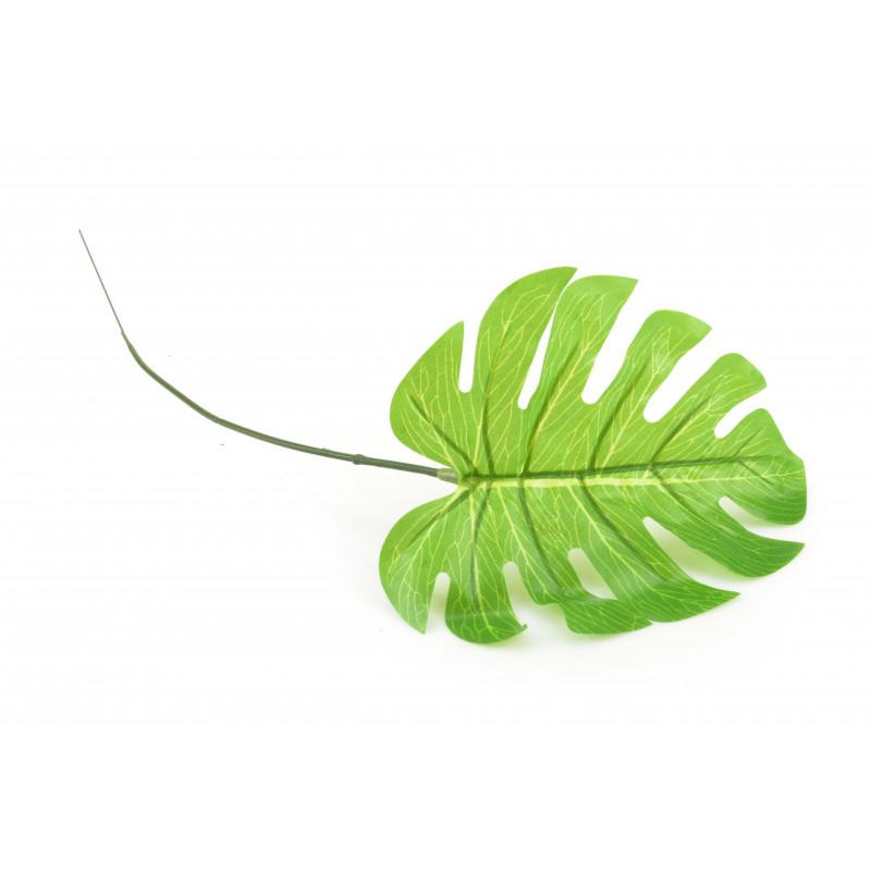 LIŚĆ MONSTERA DZIURAWA (liść)-Kwiaty sztuczne