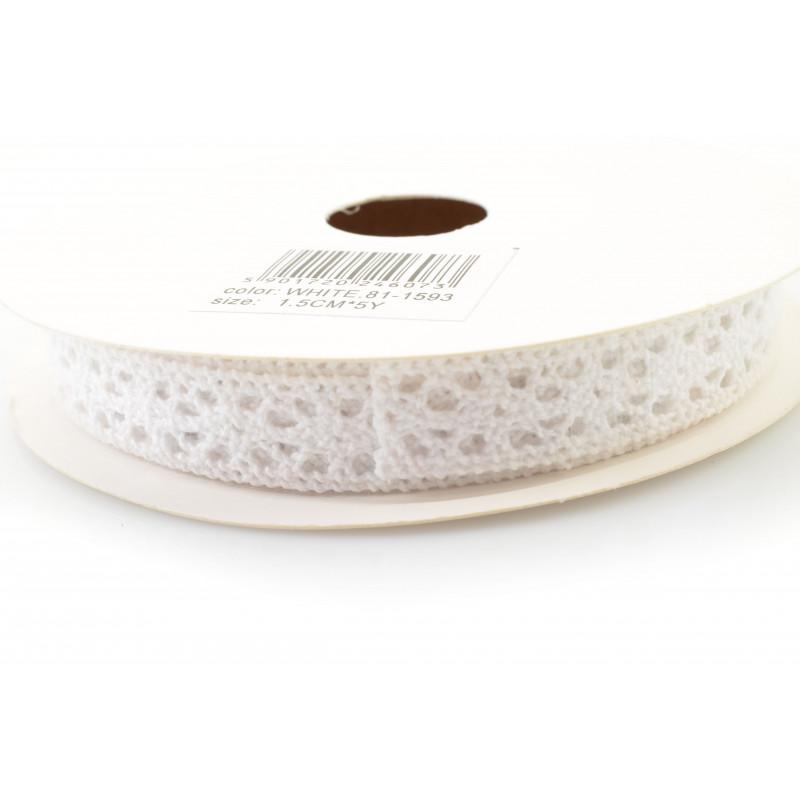 Tw.sztuczne koronka bawełniana 1,5cm x5y