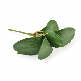 Kwiaty sztuczne piankowy liść storczyka h-43cm