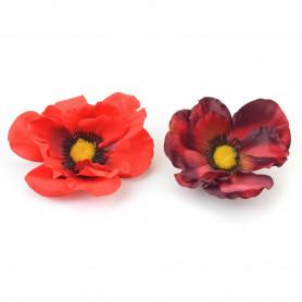 Kwiaty sztuczne mak wyrobowy