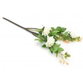 Kwiat sztuczny pojedyńczy róża biała