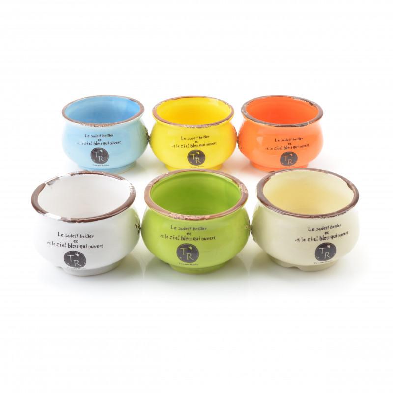 Ceramiczna donica, mix kolorów: 10x7cm