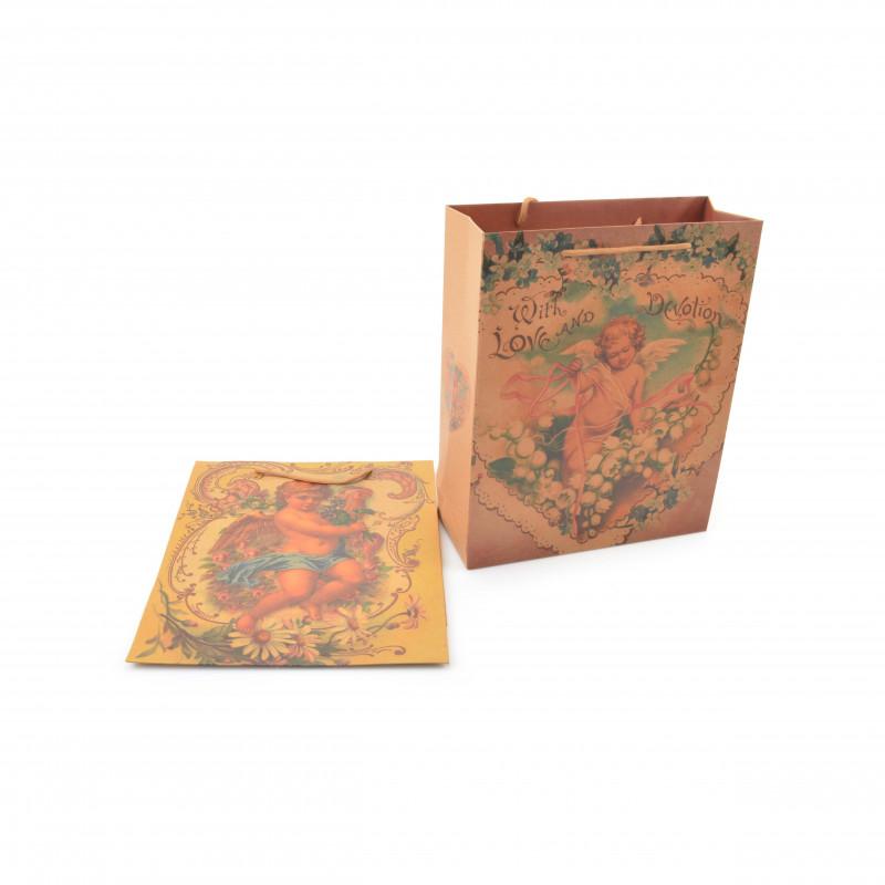 Papierowa torebka, mix wzorów 32x26x10cm