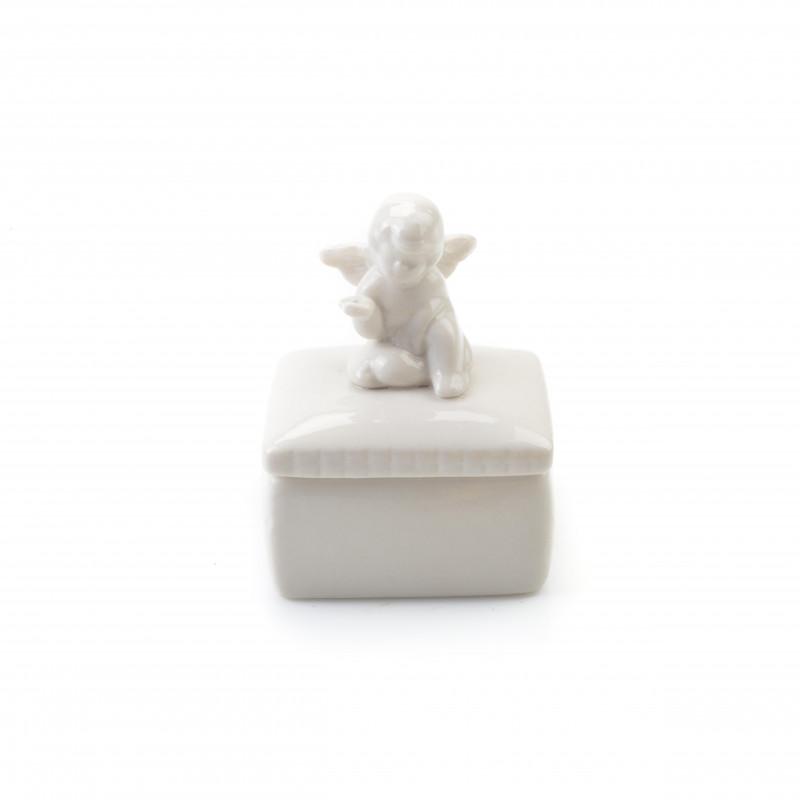 Ceramiczna figura z aniołem 10cm