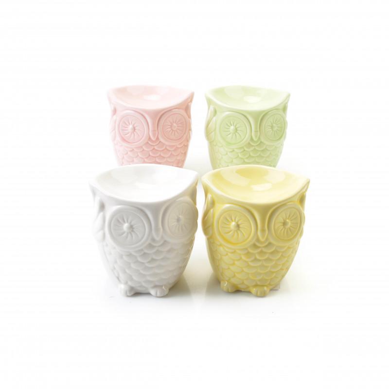 Ceramiczny kominek do aromaterapii sowa