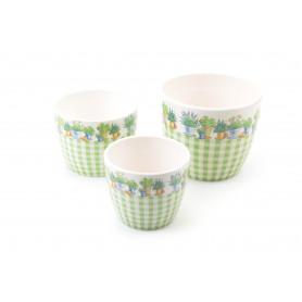 Ceramiczna donica kwiatowa krata kpl.3