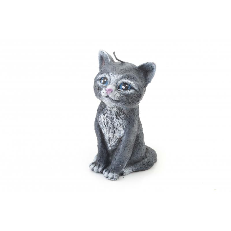 Świeca parafinowa Kot figurka 15,5cm