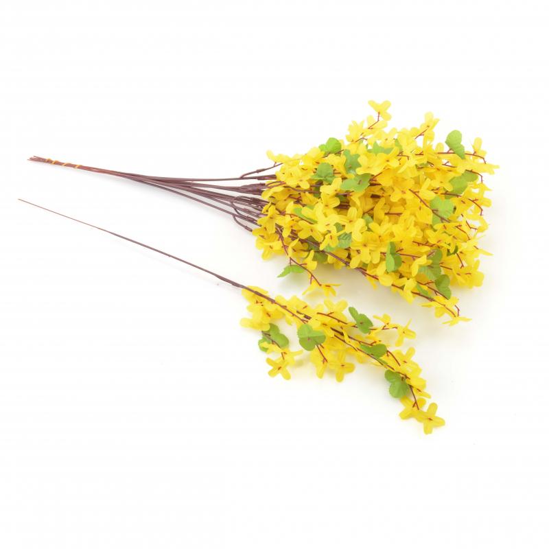 Kwiaty stzuczne forsycja gałązka 52cm