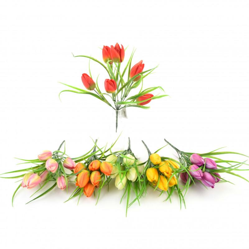Kwiaty sztuczne bukiet tuilpana 32cm