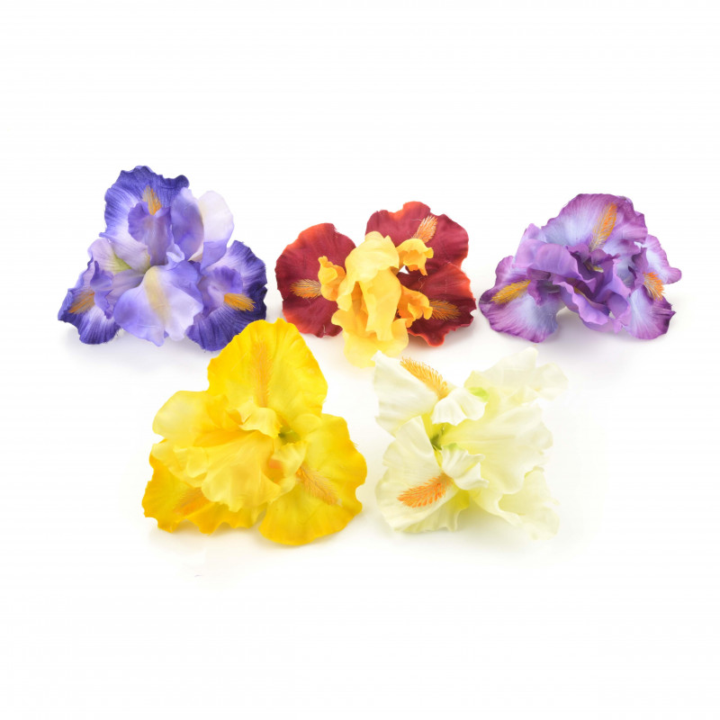 Kwiaty sztuczne irys wyrobowy 12x13cm