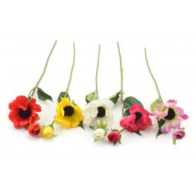 Искусственные цветы: анемон веточка